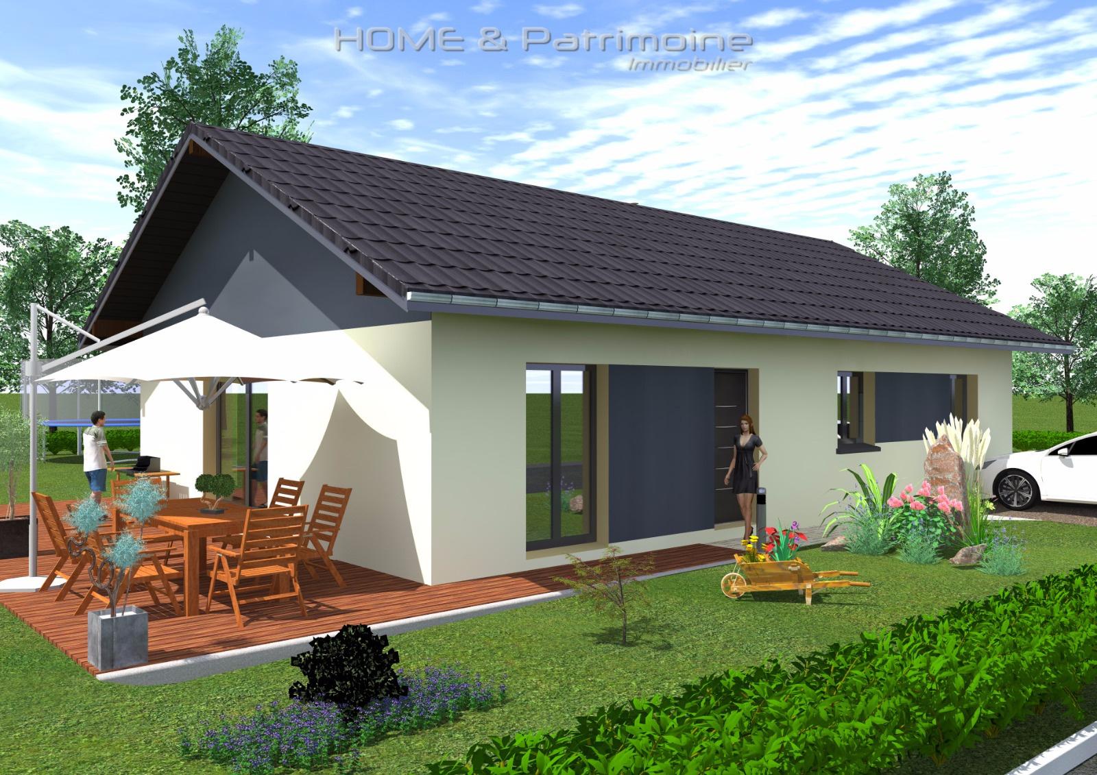 Vente projet d 39 une maison de plein pied de 92 m for Hauteur d une maison plein pied