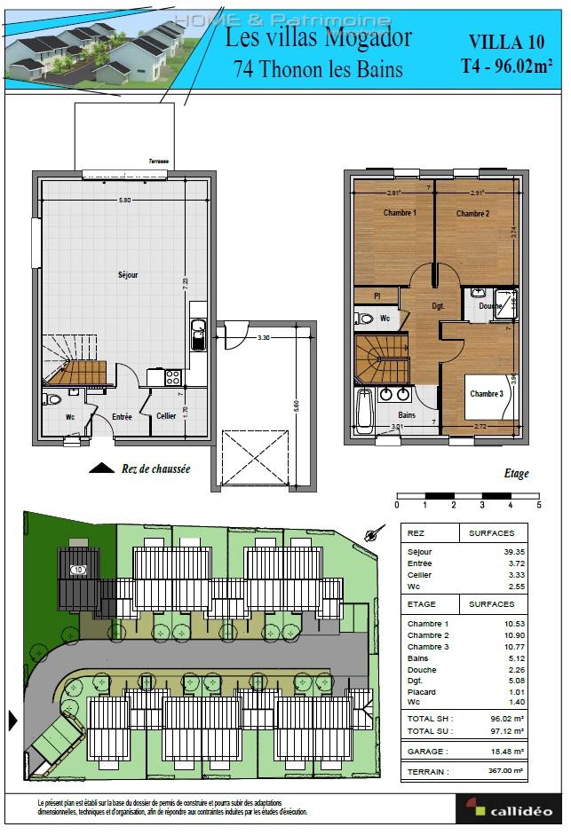 Offres programmes neufs thonon ouest villa mitoyenne de 96 for Garage thonon les bains